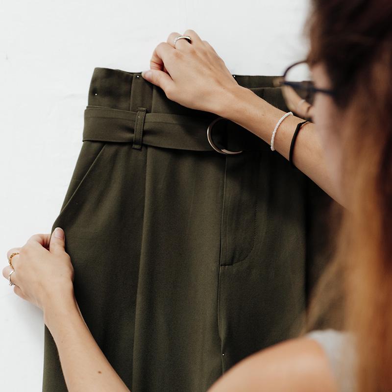 préparation du textile avant le shooting