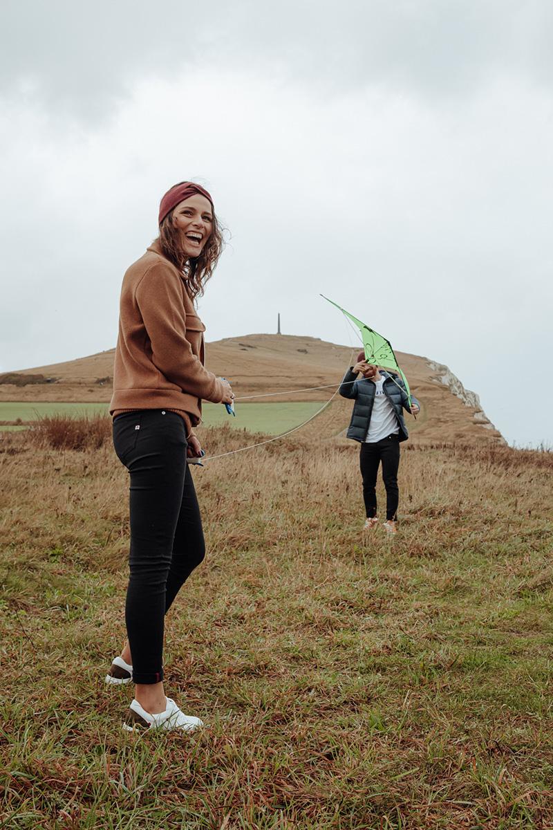 Shooting avec cerf-volant